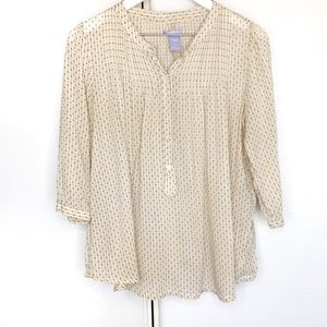 Gap Maternity | Half Button 100% Cotton Blouse